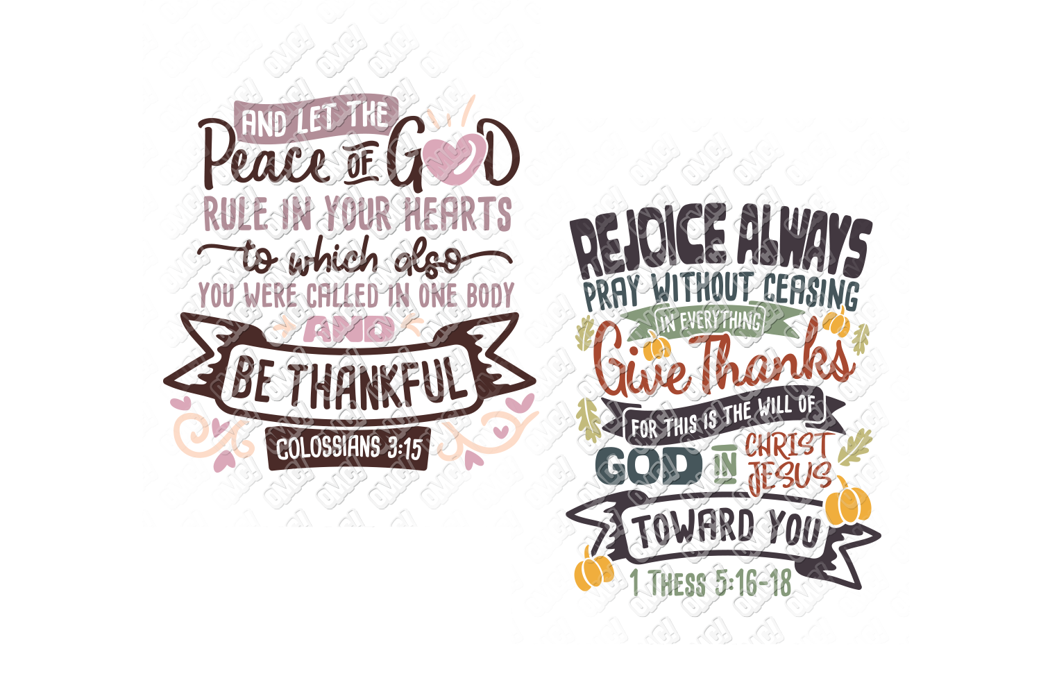 Thanksgiving Bible Verse SVG in SVG, DXF, PNG, EPS, JPG example image 3