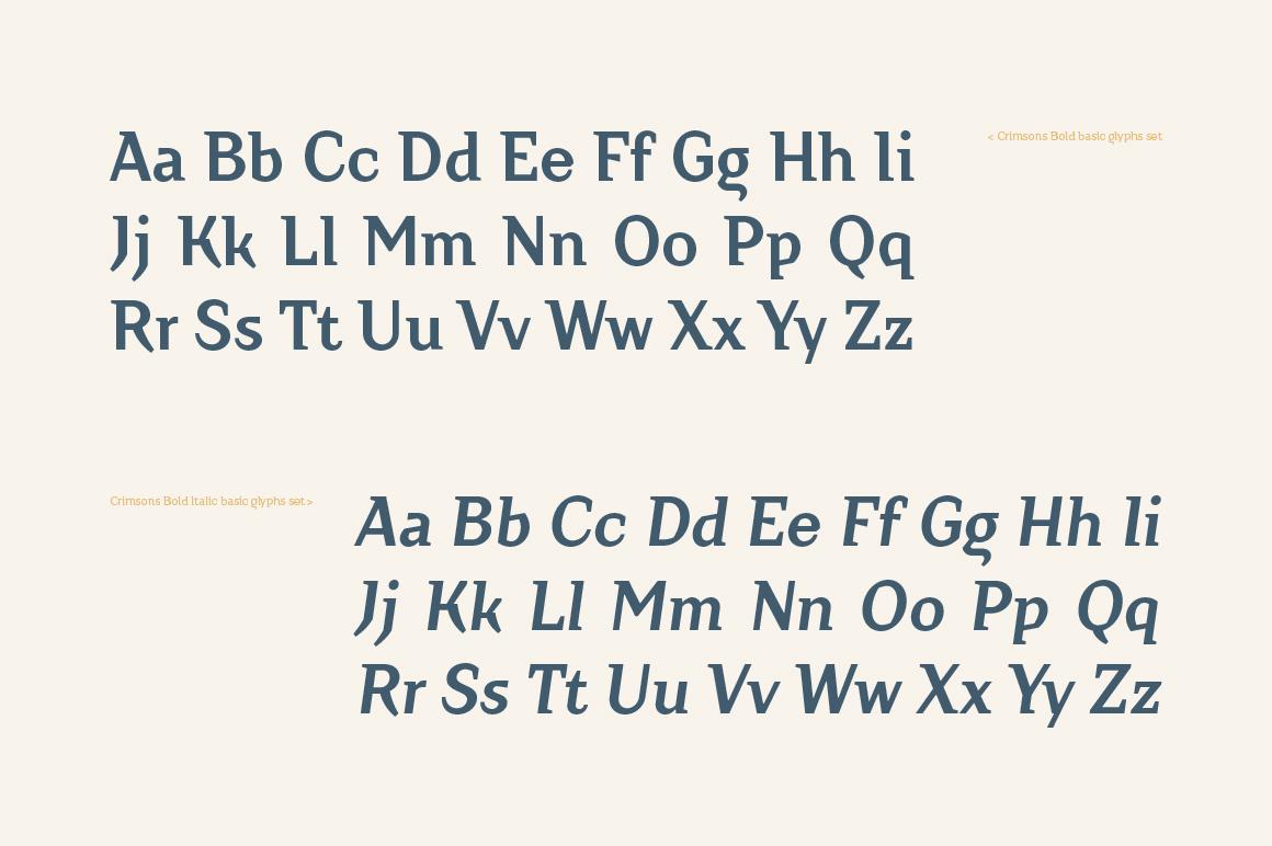 Crimsons — Bold & Bold Italic example image 4