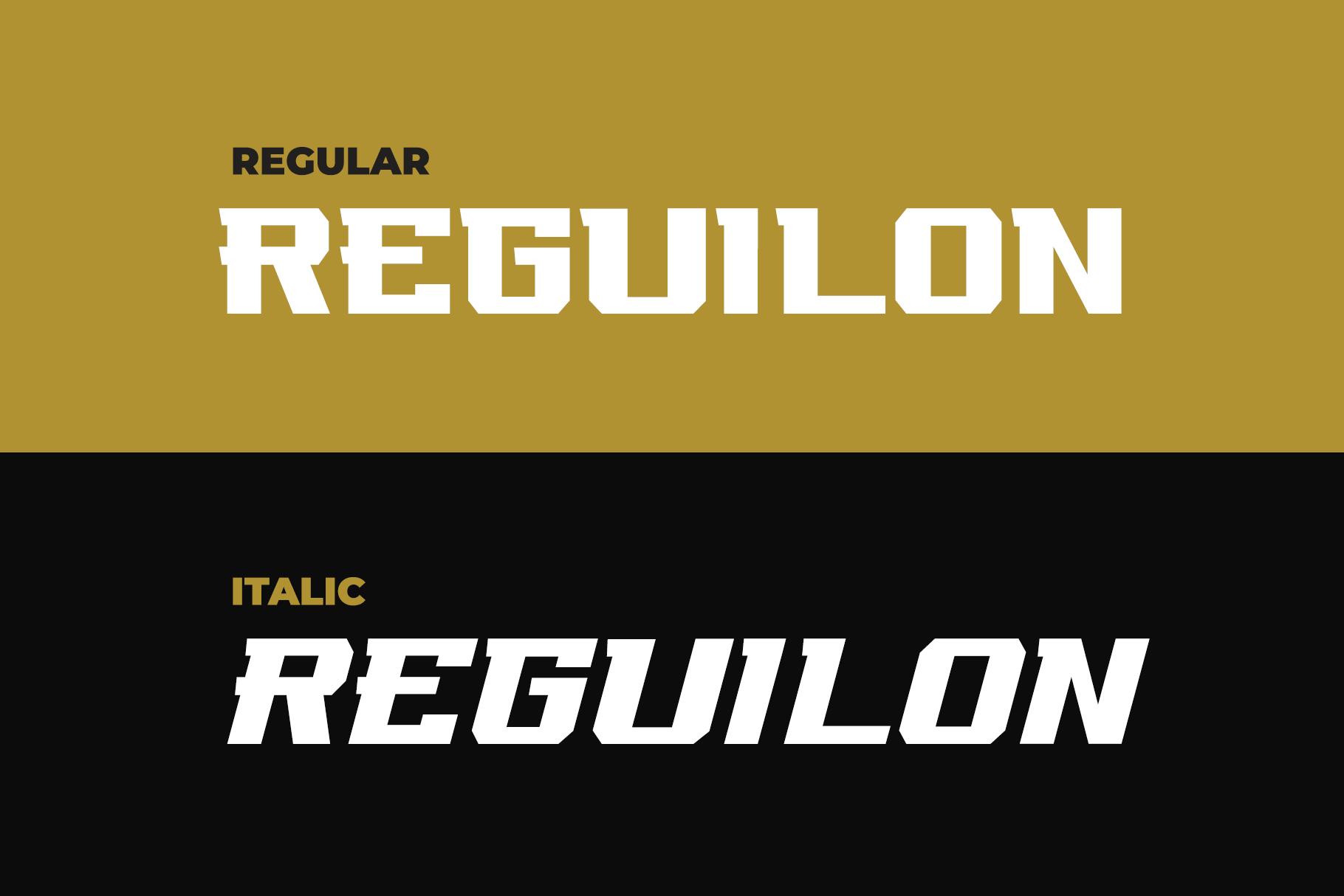 REGUILON Dispplay Font example image 6