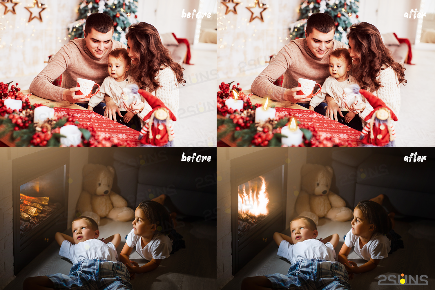 Christmas overlays Candle flame png Fireplace overlays example image 4