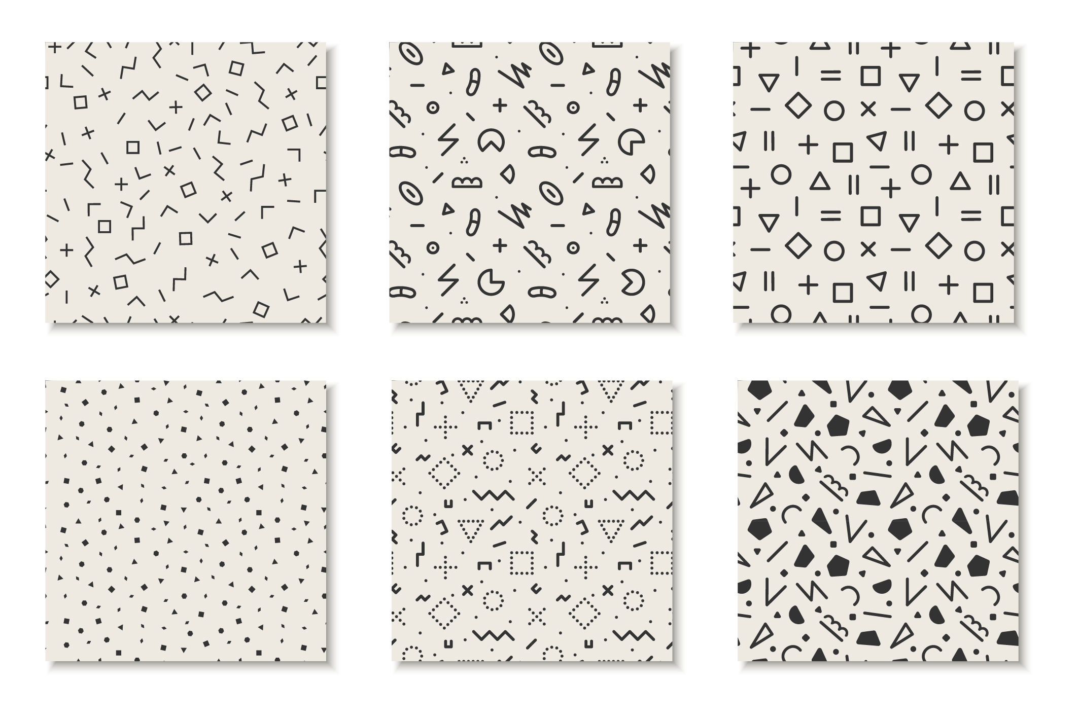 Seamless memphis vector patterns - swatches library. example image 10