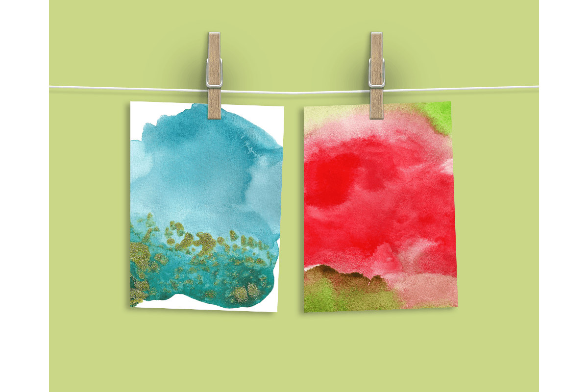 Watercolor Textures - card edition example image 7