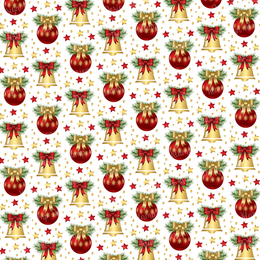 Red and Gold Christmas Digital Paper Pack / Backgrounds / Scrapbooking / Patterns / Printables / Card Making example image 3