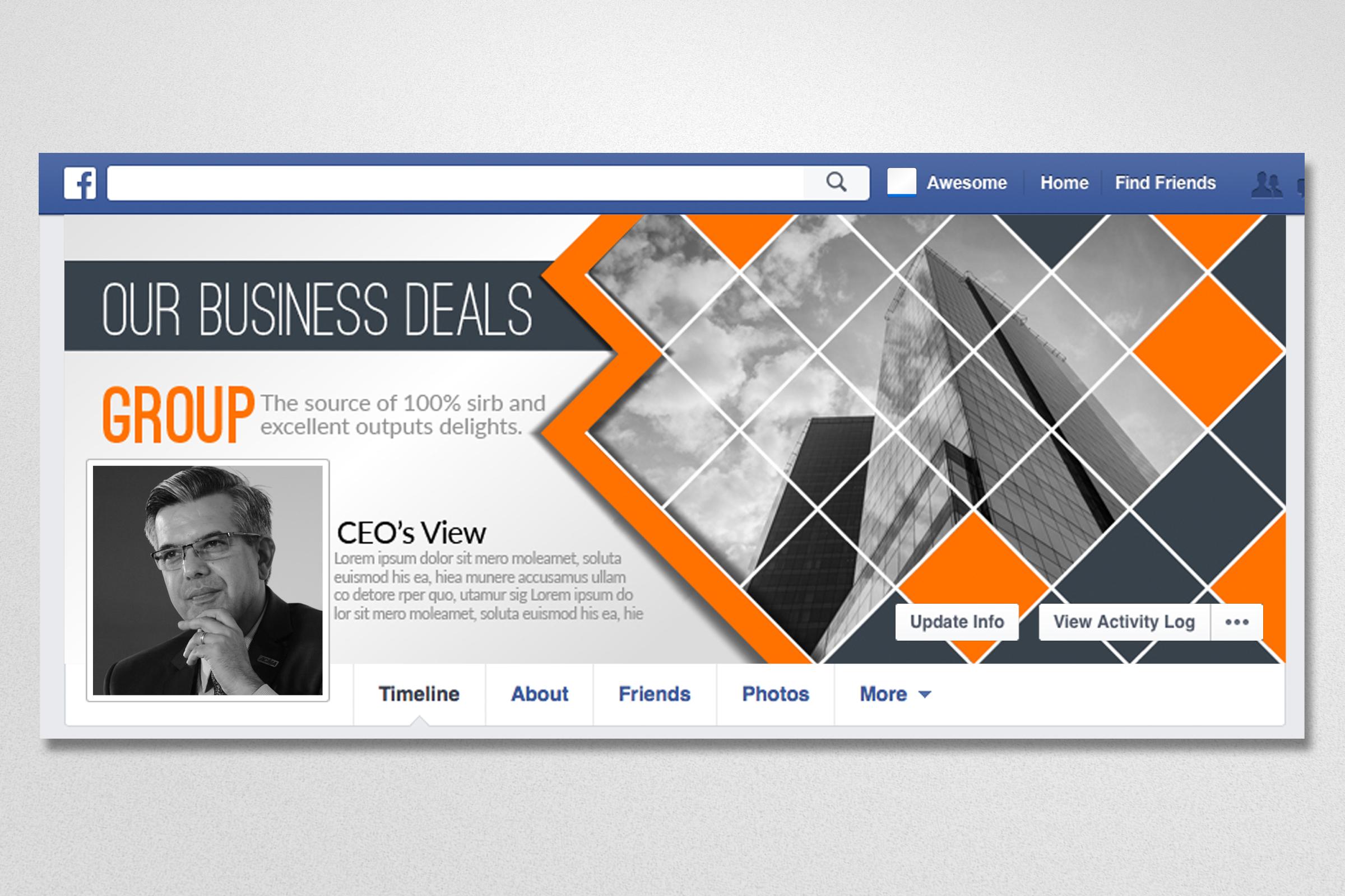 10 Business Facebook Timelines Bundle example image 9