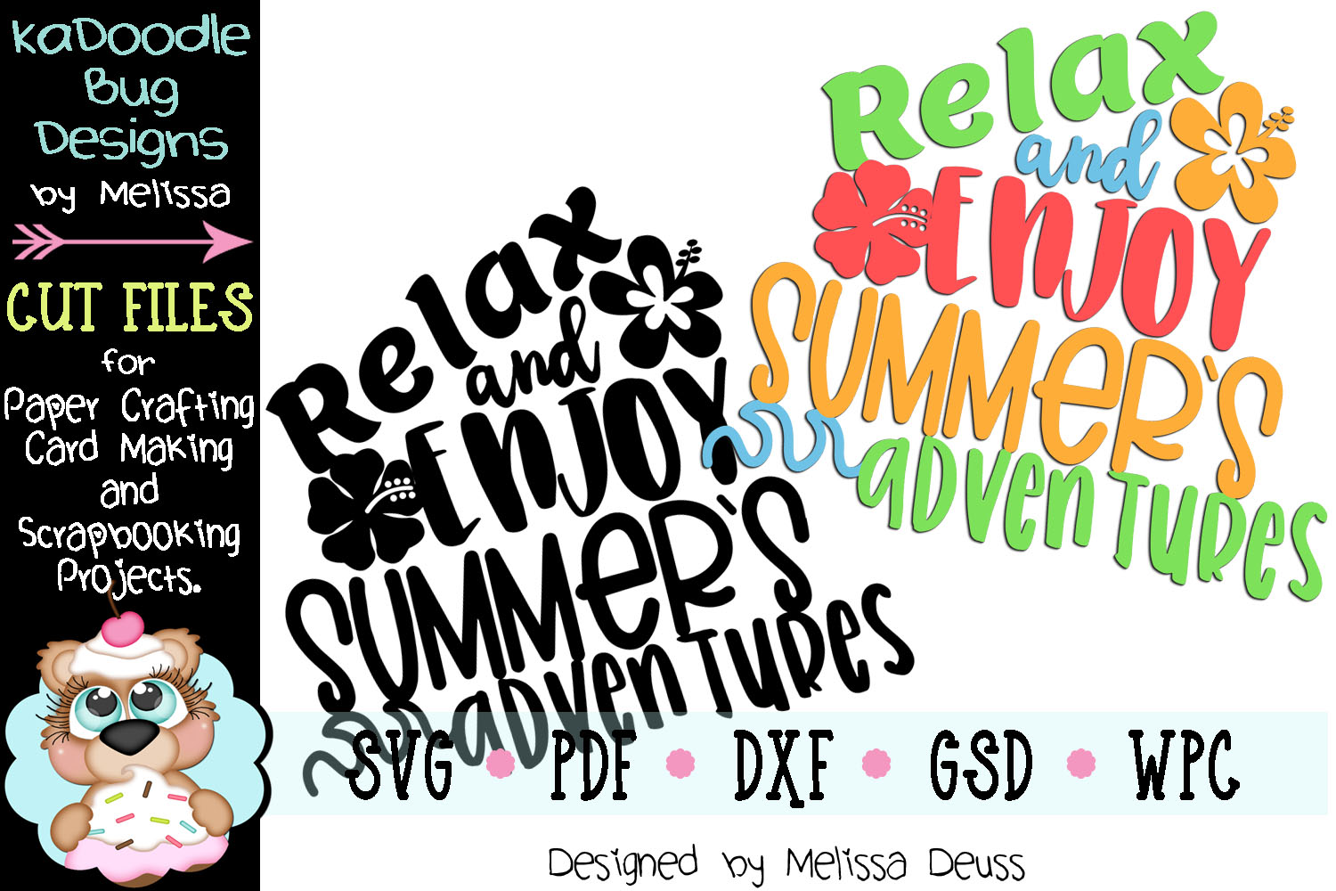 Relax and Enjoy Summer's Adventures Cut File - SVG PDF DXF example image 2