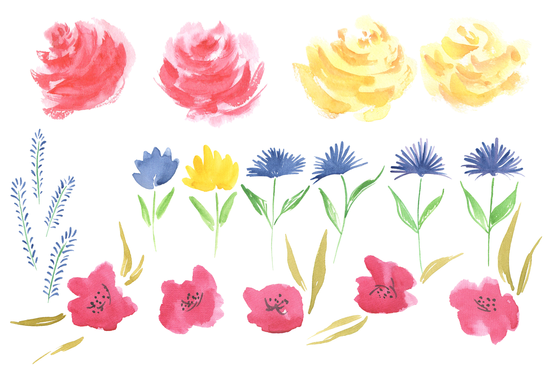 Queen of Flowers watercolor collection example image 5