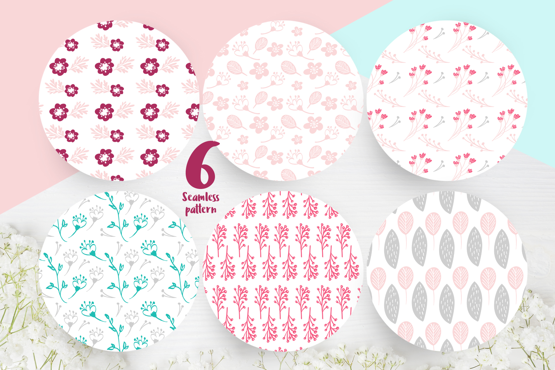 Spring vector lettering & floral greeting card example image 11