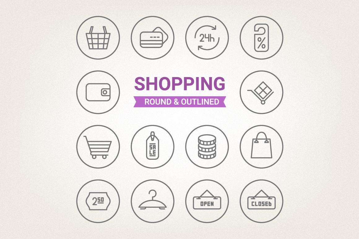 Circle Shopping Icons example image 1
