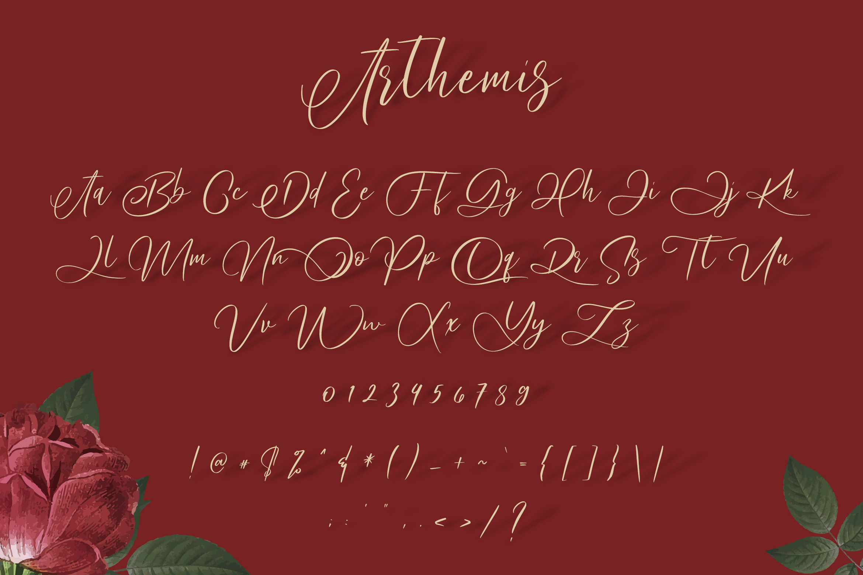 Arthemis Script - Logo Font example image 8