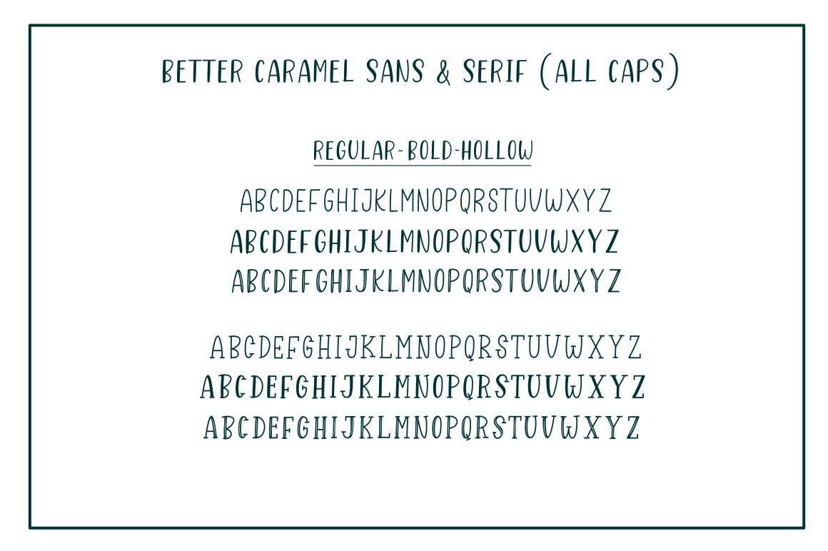 Better Caramel // Font Trio example image 3