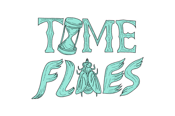 Time Flies Drawing example image 1