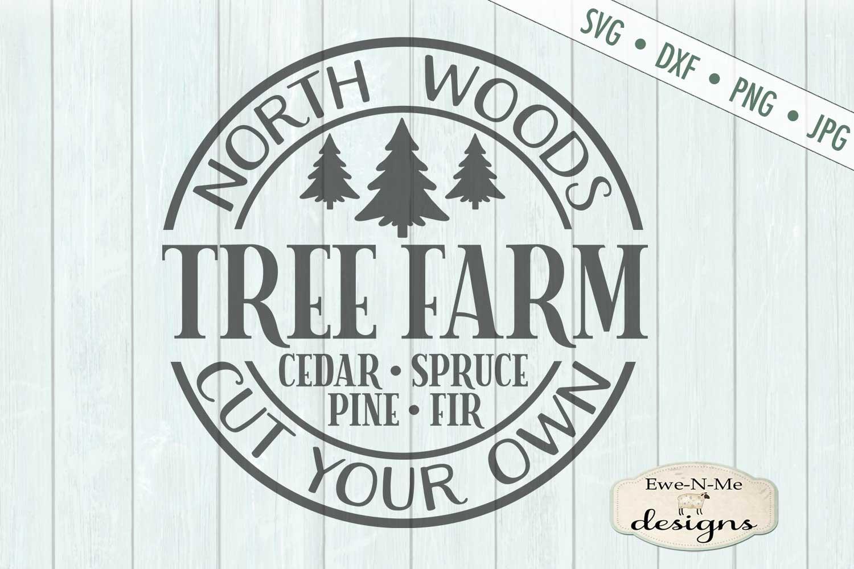 North Woods Tree Farm - Christmas Tree - SVG example image 2