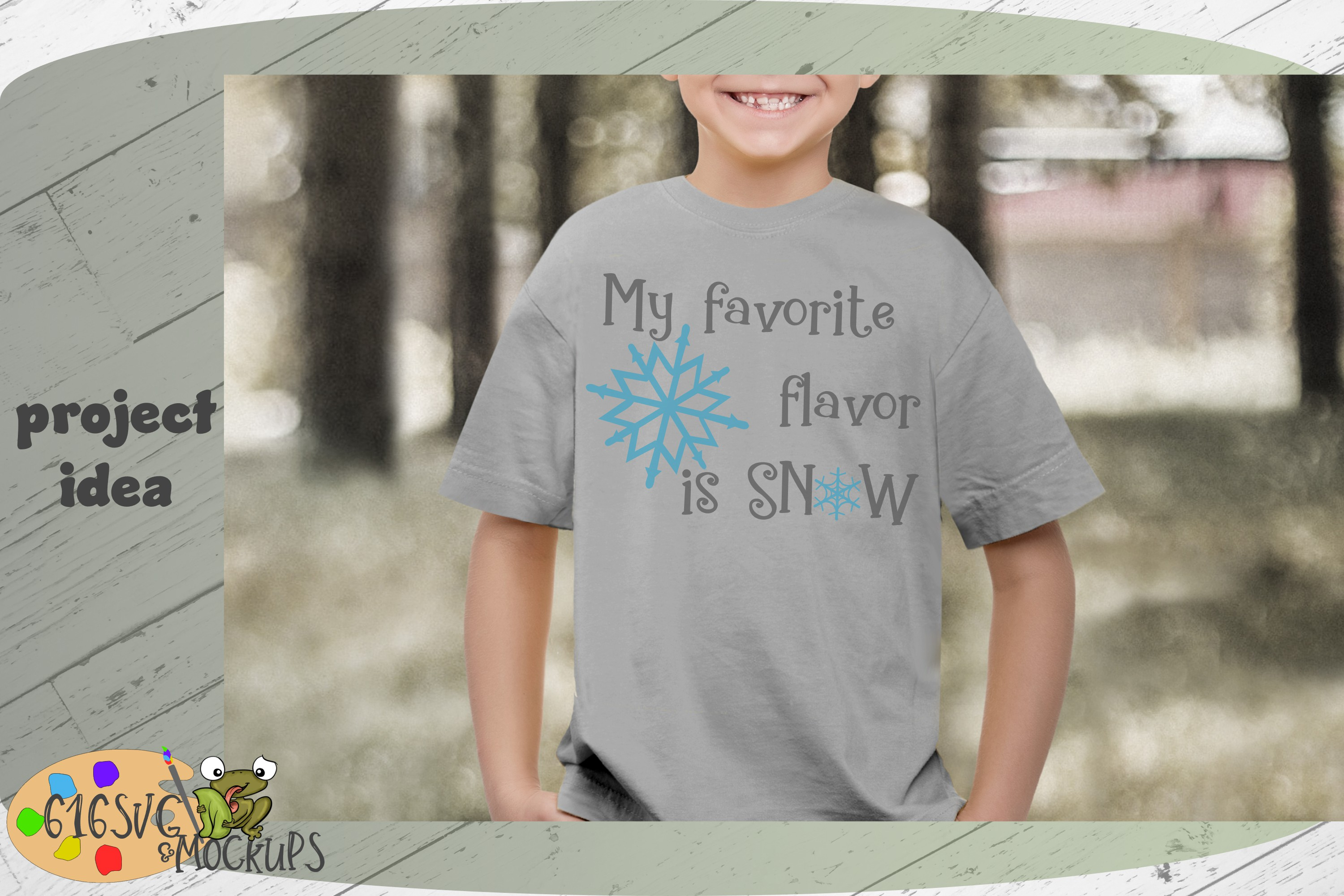 My Favourite Flavour Is Snow SVG example image 6