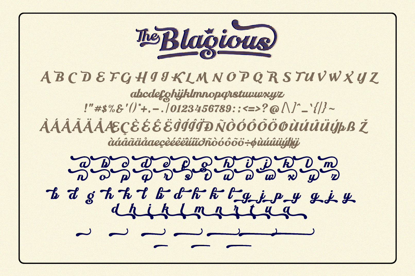 The Blagious Bold Script example image 6