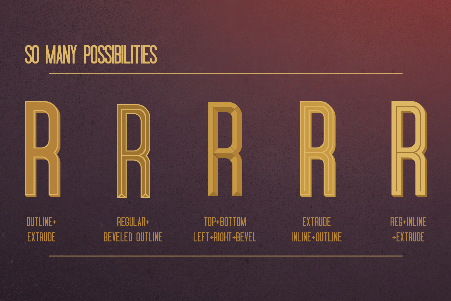 Oblivium Layered Font Family example image 4