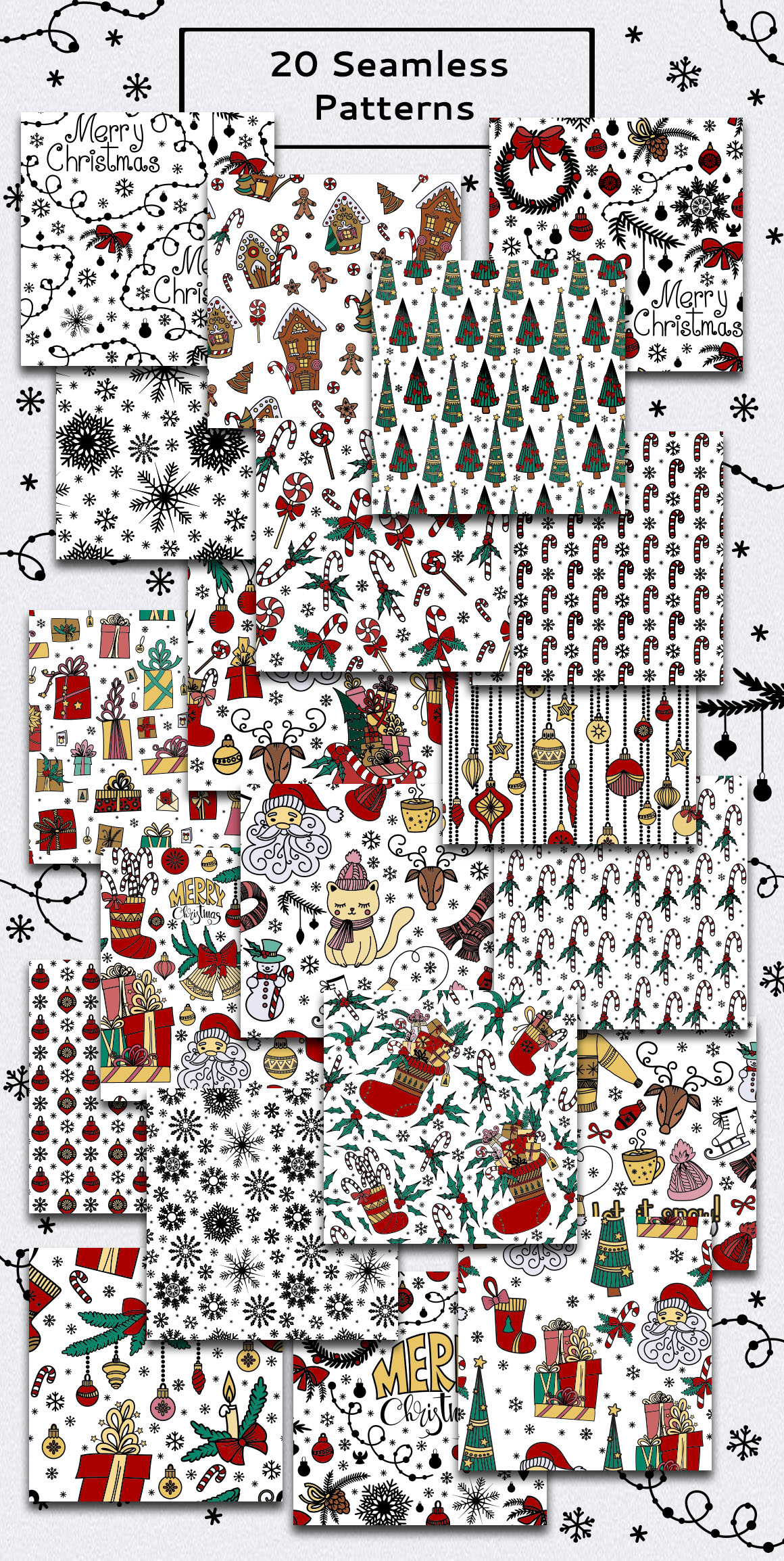 Christmas Doodles example image 4