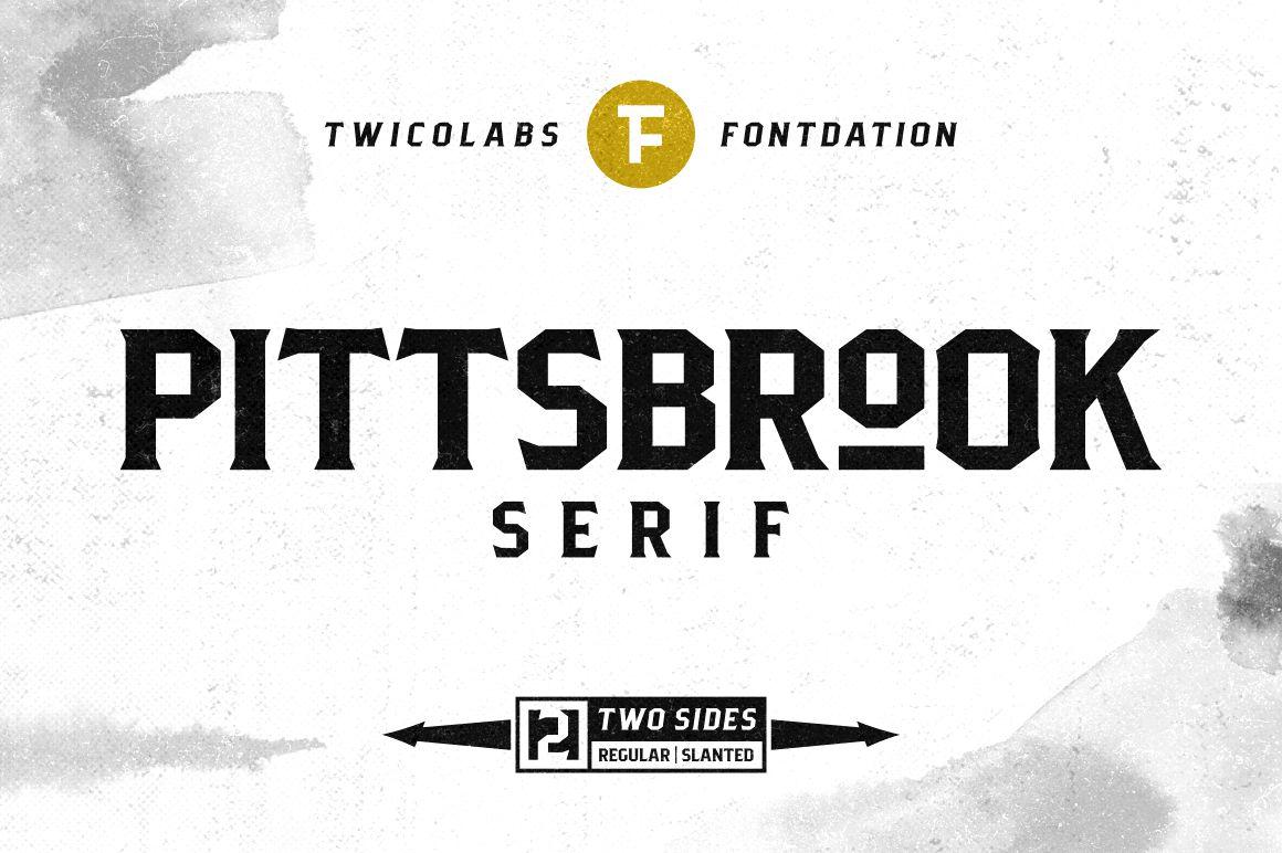 Pittsbrook Serif example image 1