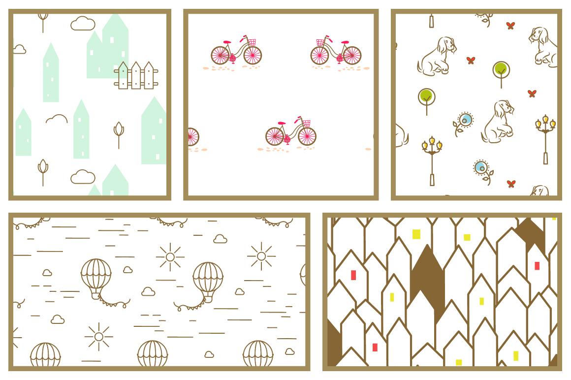 Promenade Seamless Patterns example image 4