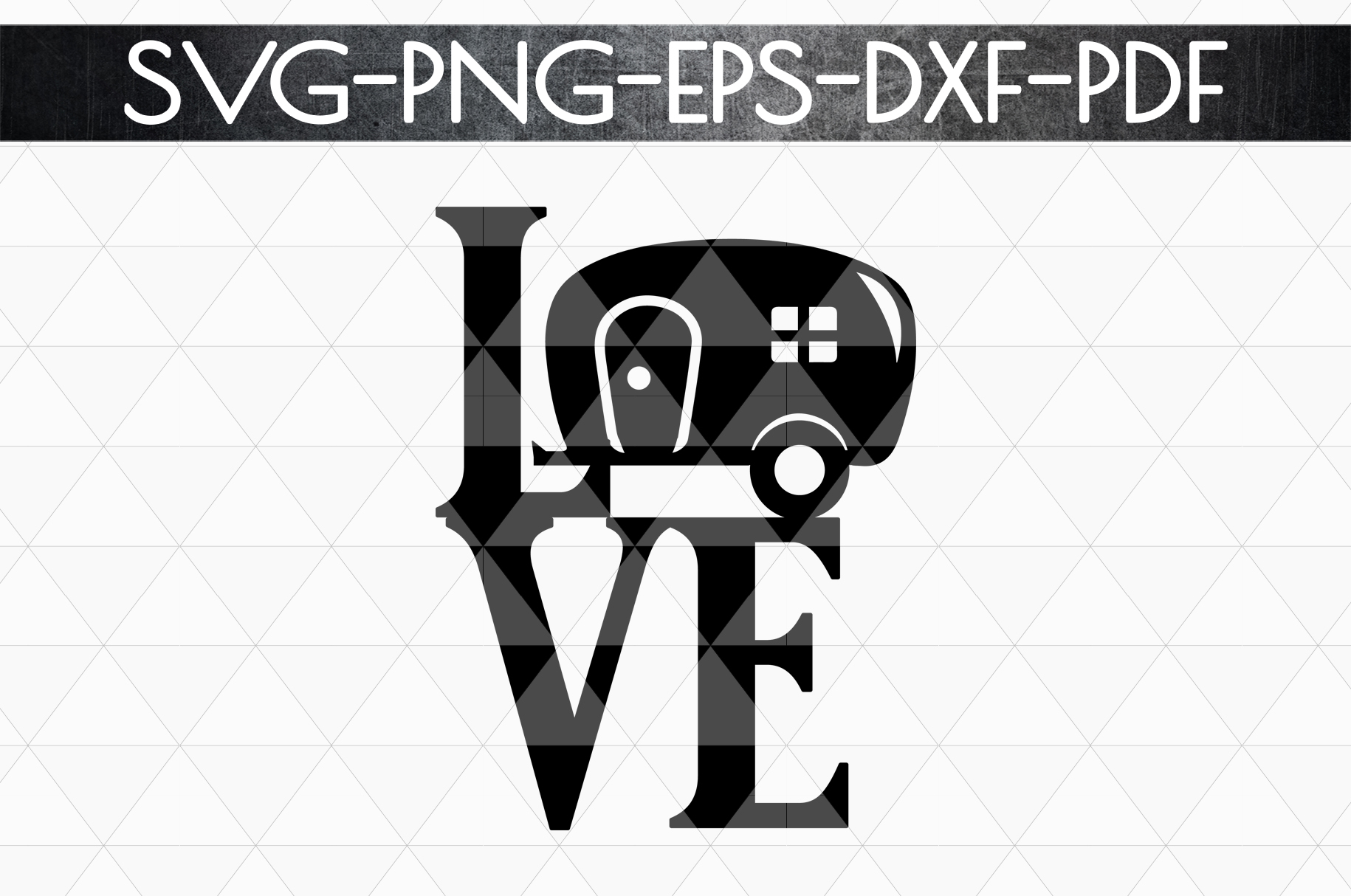 Love Camping Sign Papercut Template, Summer Camper SVG, PDF example image 4