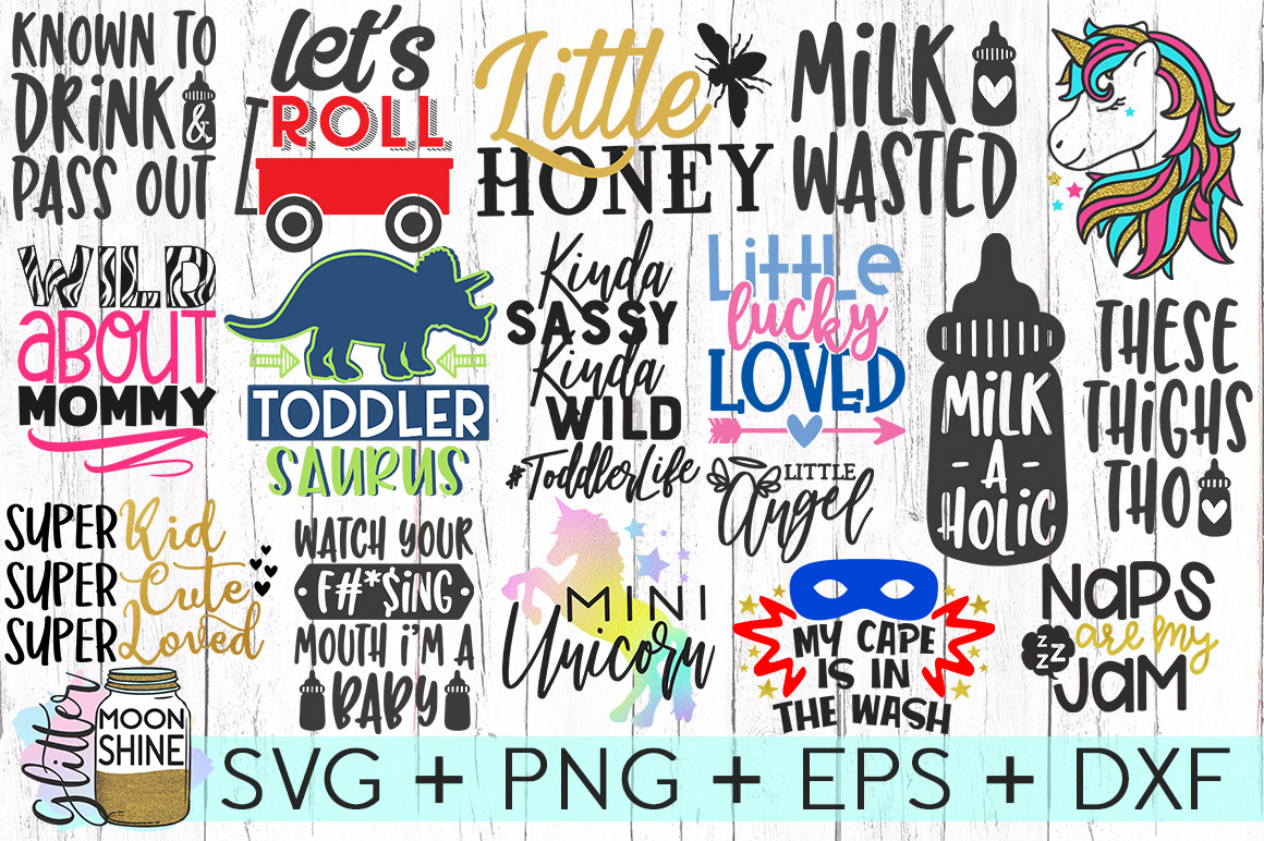 Kid's Life Bundle Of 57 SVG DXF PNG EPS Cutting Files example image 4