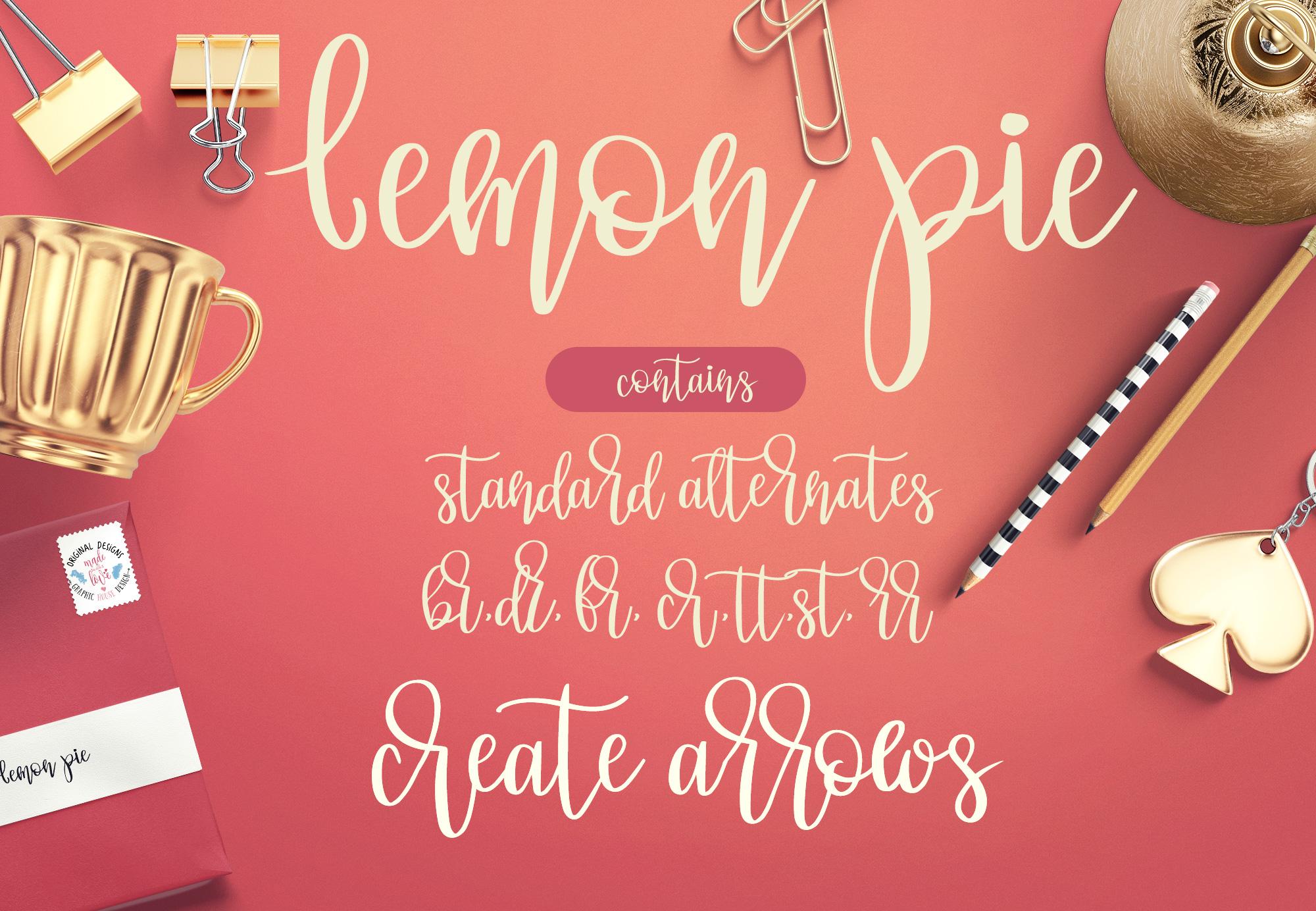 Lemon Pie Modern Hand Lettered Script Font example image 3