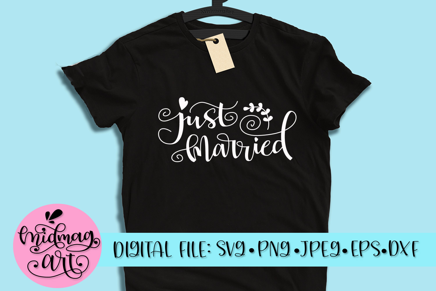 Just married svg, png, jpeg, eps and dxf example image 1