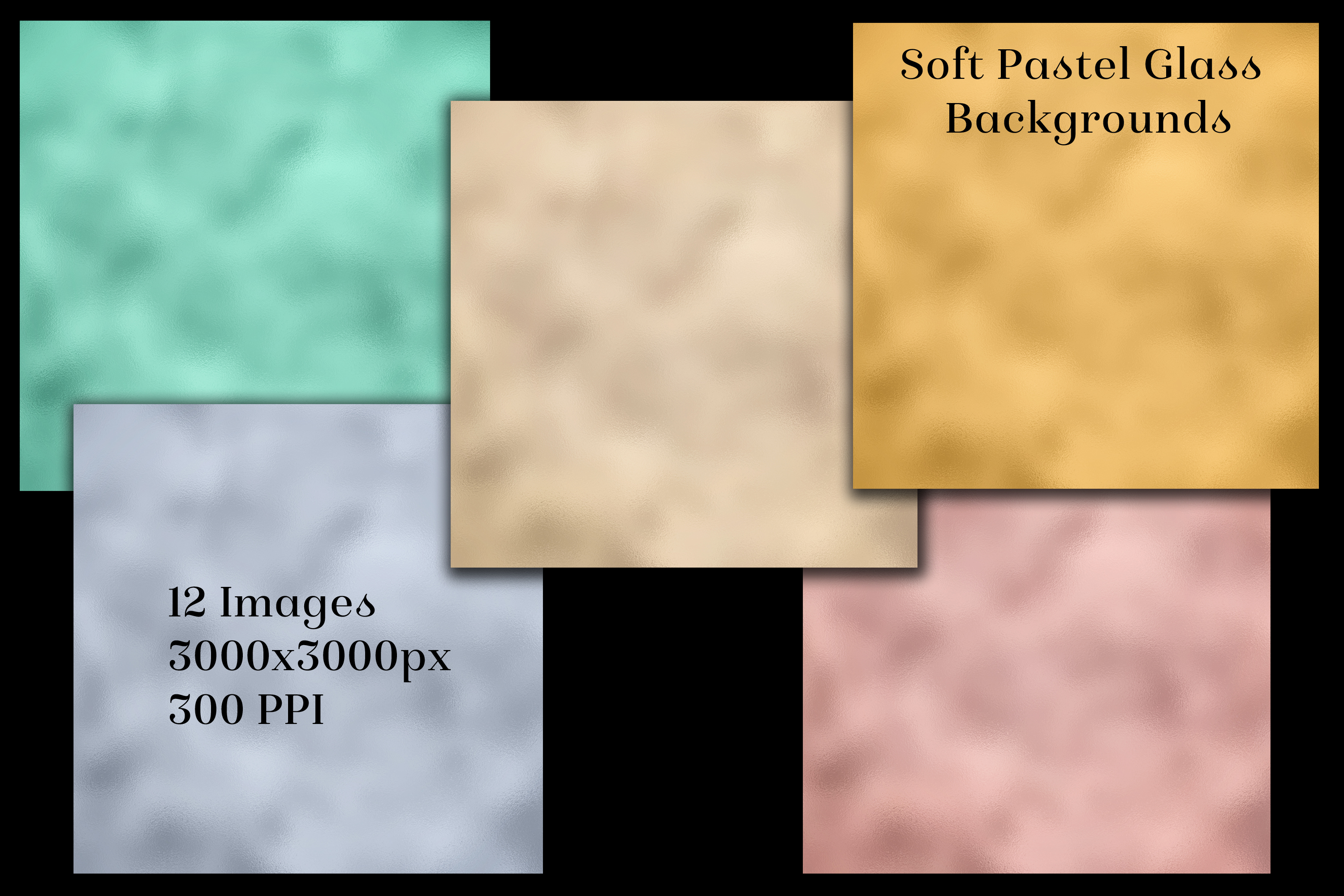 Soft Pastel Glass Backgrounds - 12 Image Textures Set example image 2