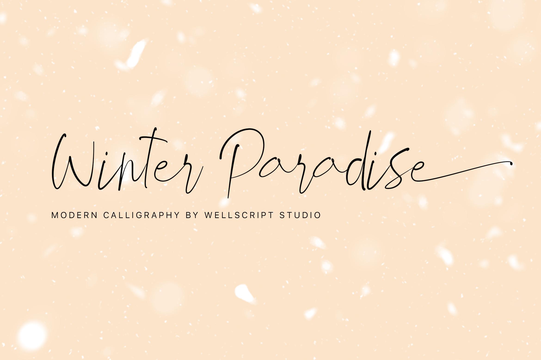 Winter Paradise - Modern Script example image 1