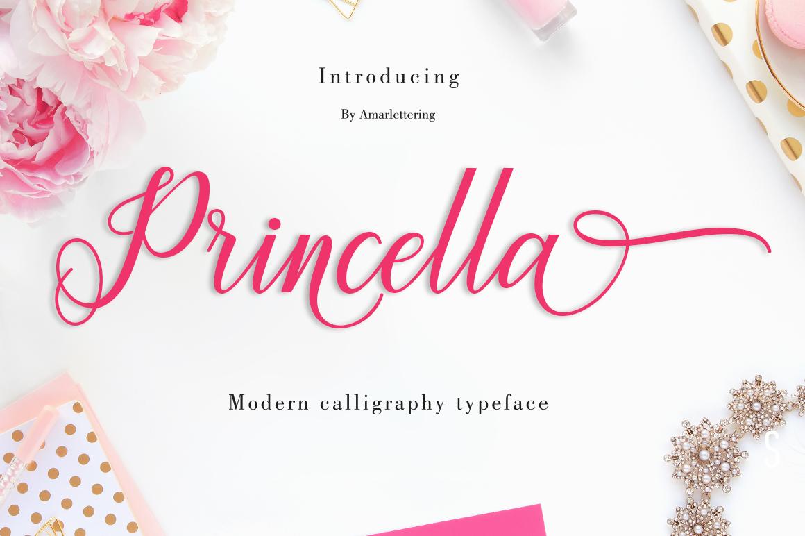 Princella Script | 5 Font example image 2