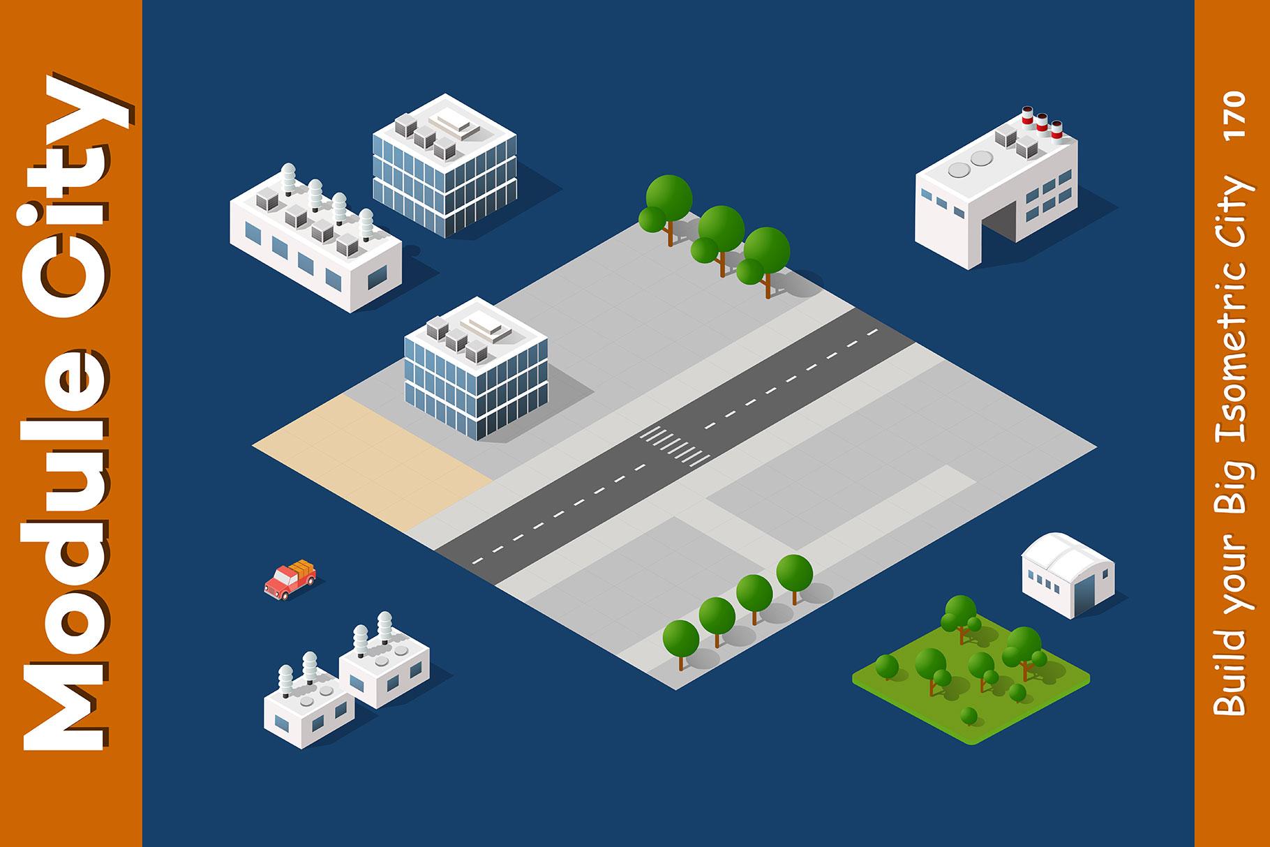Isometric set module city example image 16