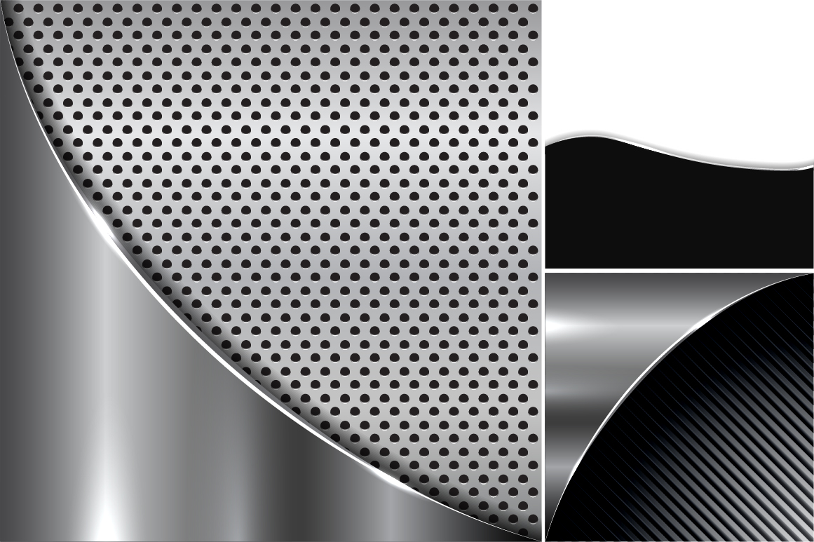 Collection of metallic backgrounds. example image 6