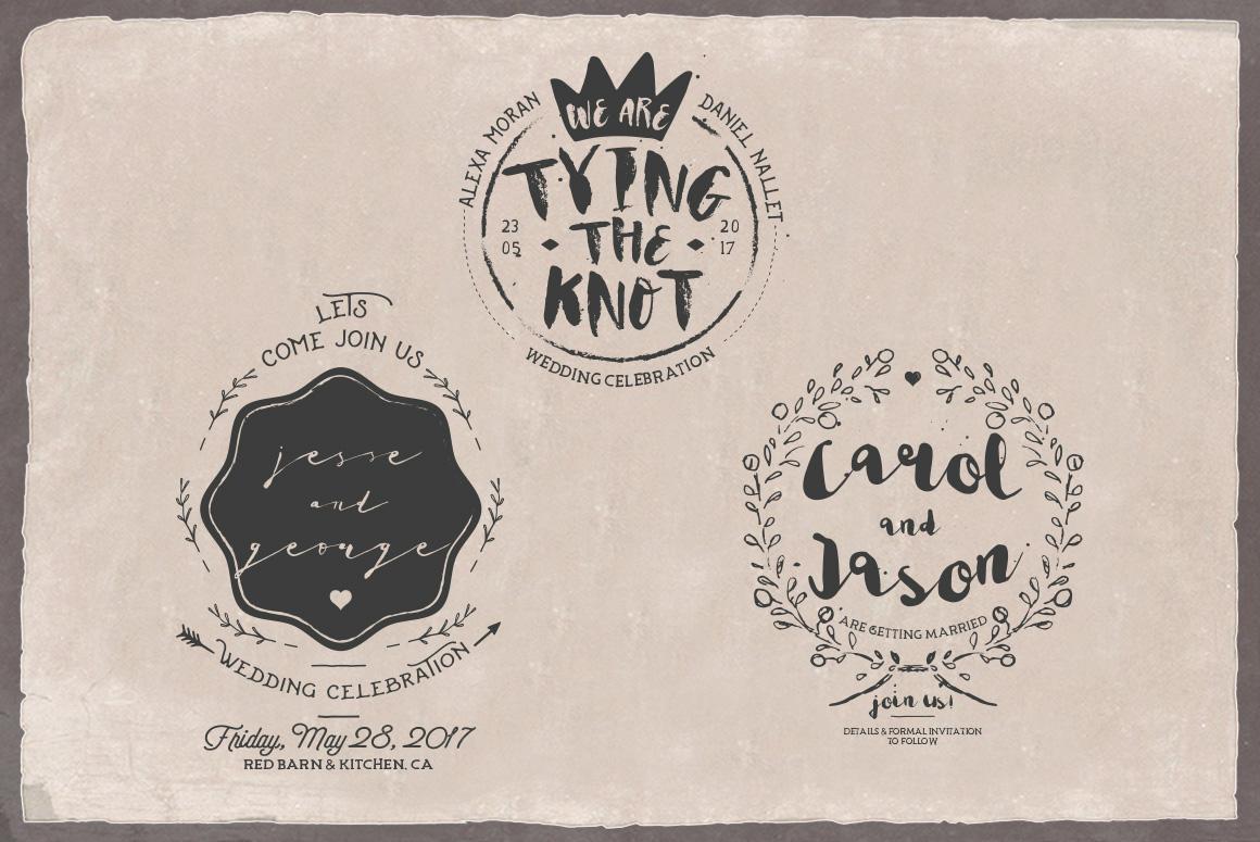 Rustic Wedding Badges & Sticker example image 6