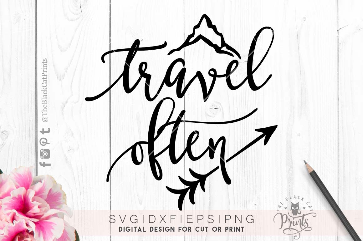 Travel often SVG DXF PNG EPS example image 3