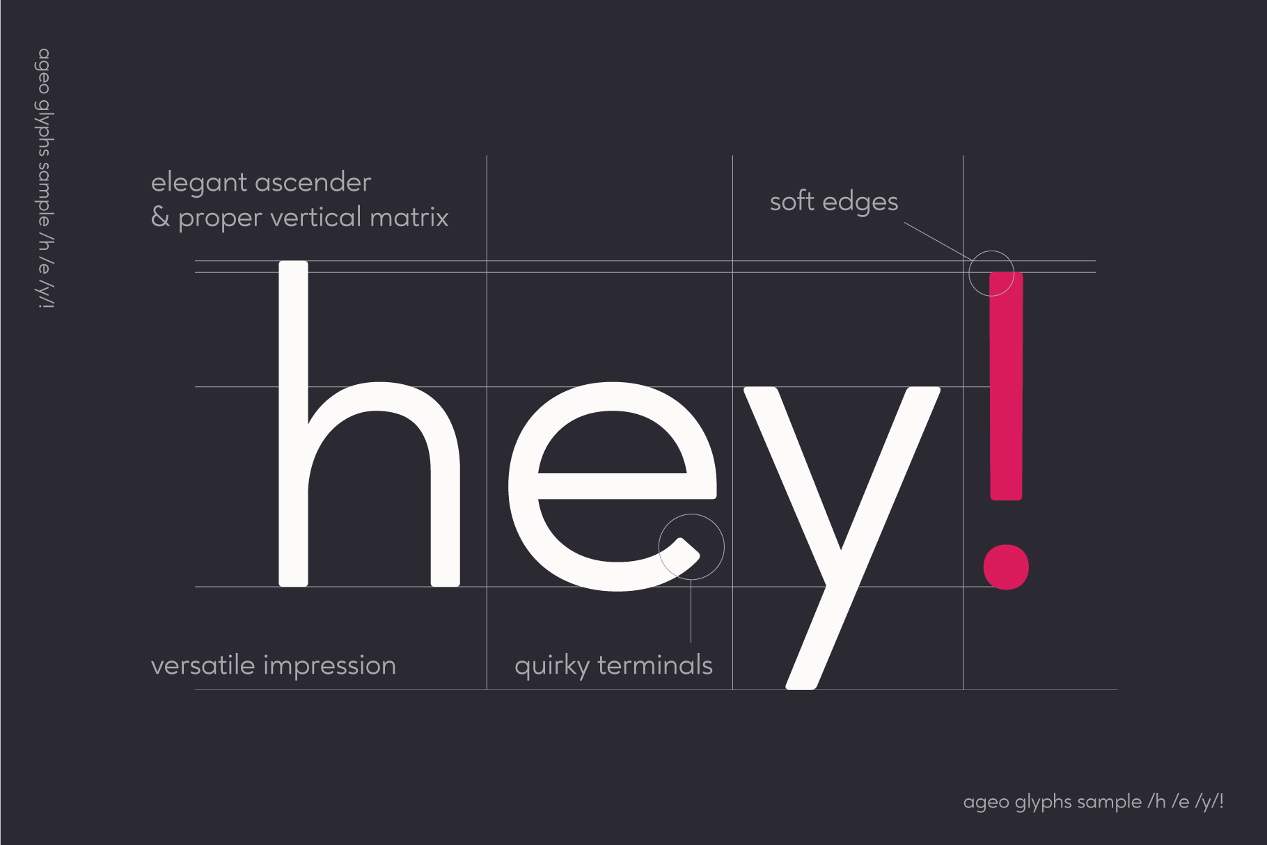 Ageo geometric sans font family example image 4