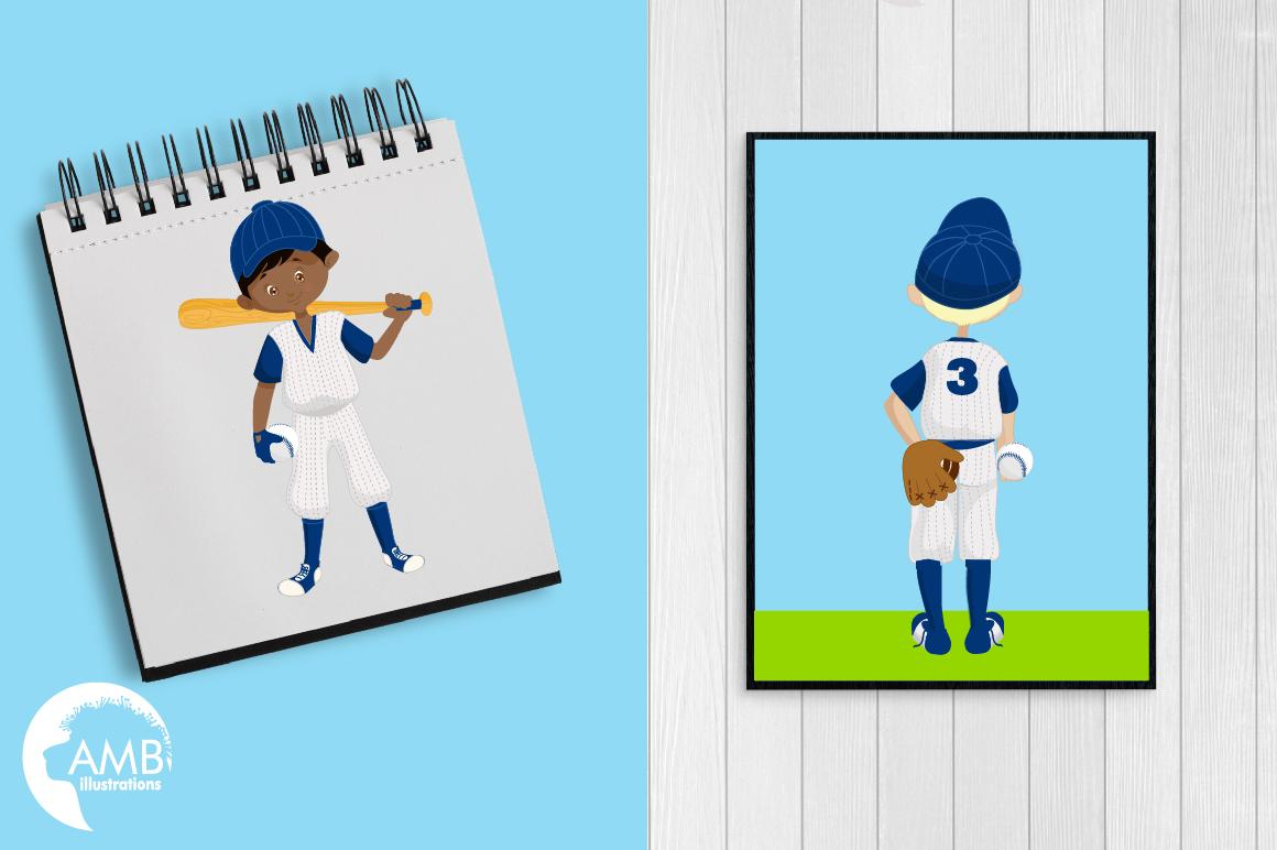 Baseball team, baseball players, graphics, illustrations AMB-1227 example image 5