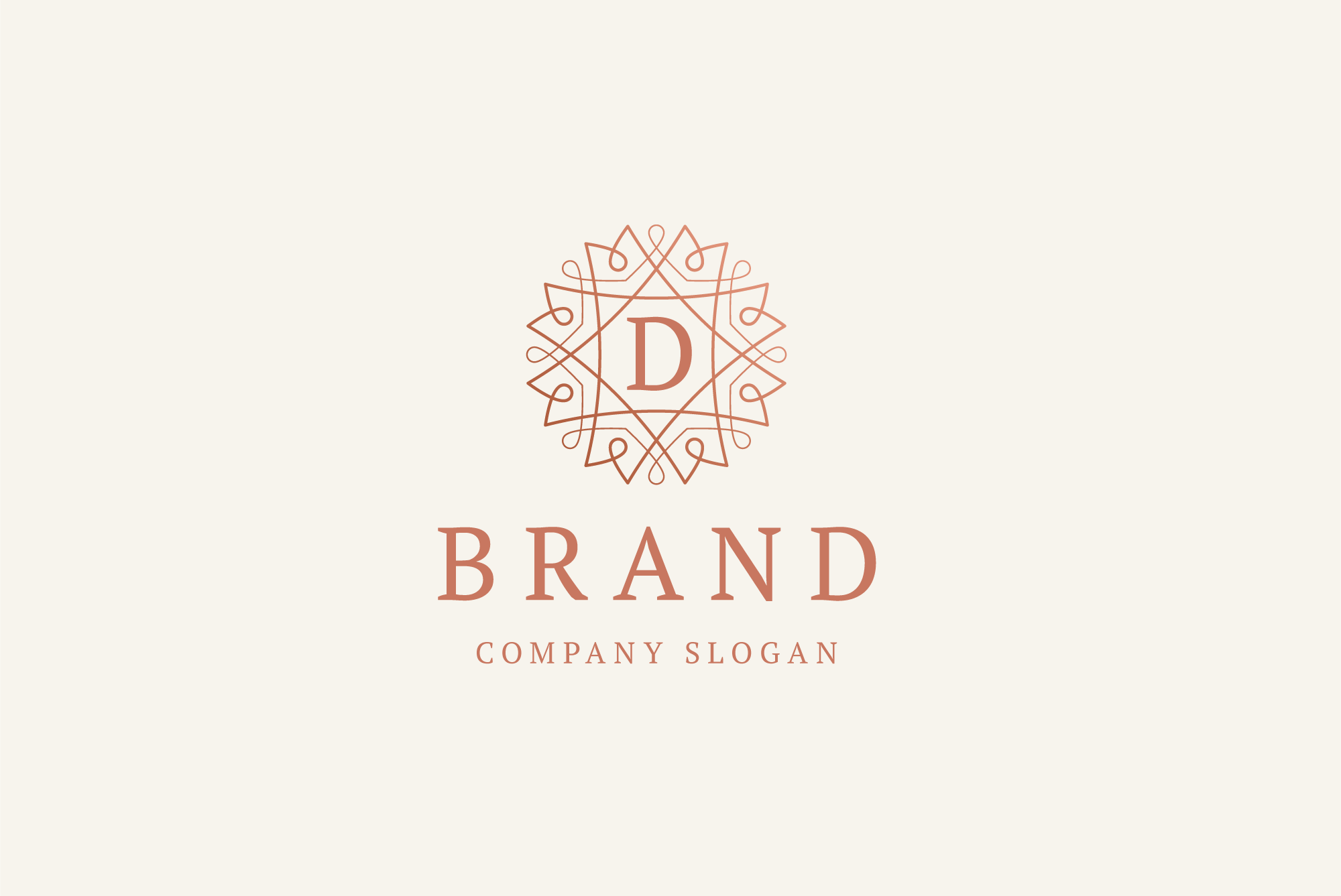 D brand logo example image 1