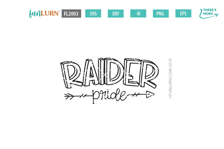 Raider Pride Team SVG Cut File example image 2