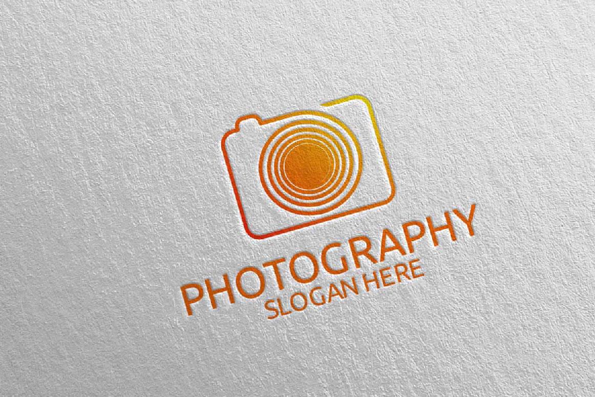 Abstract Camera Photography Logo 10 example image 2