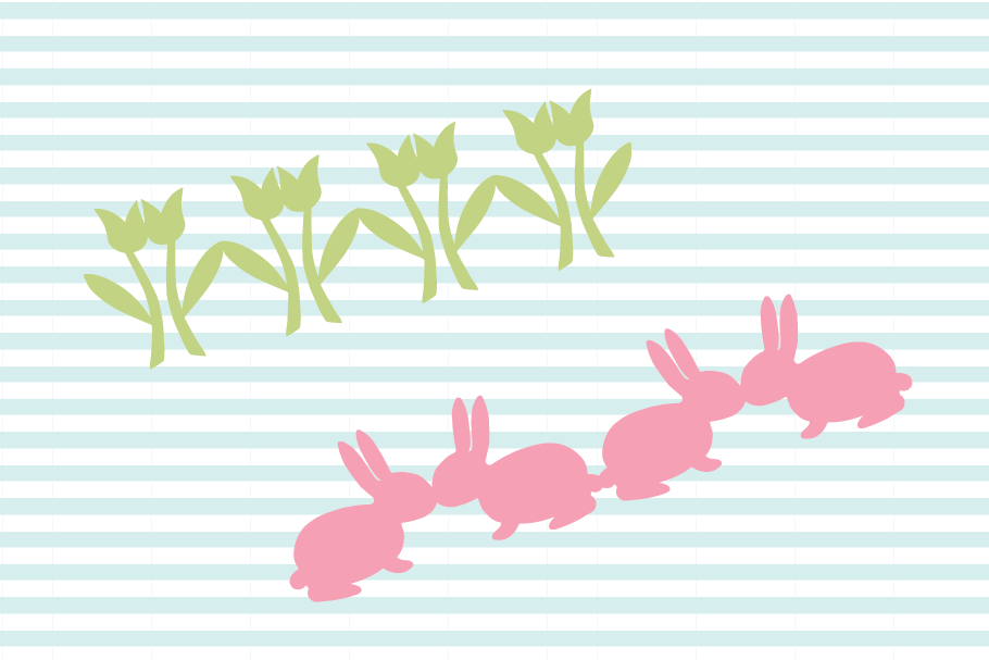 Easter Bunny SVG and Cut File Set example image 3