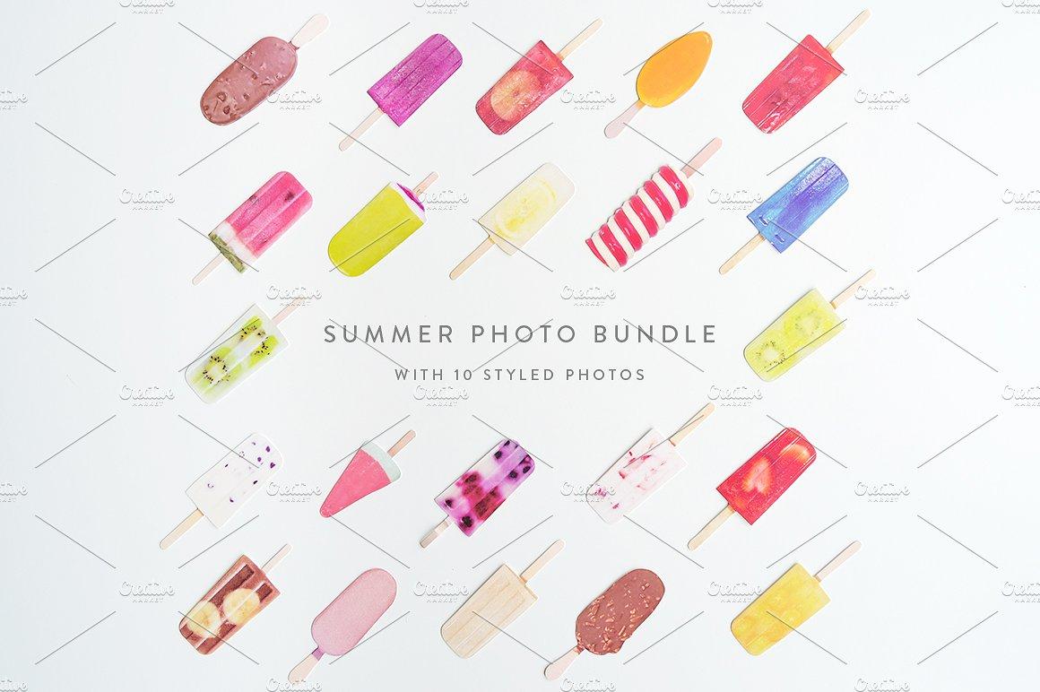 Summer Photo Bundle - Ice Lollies example image 7