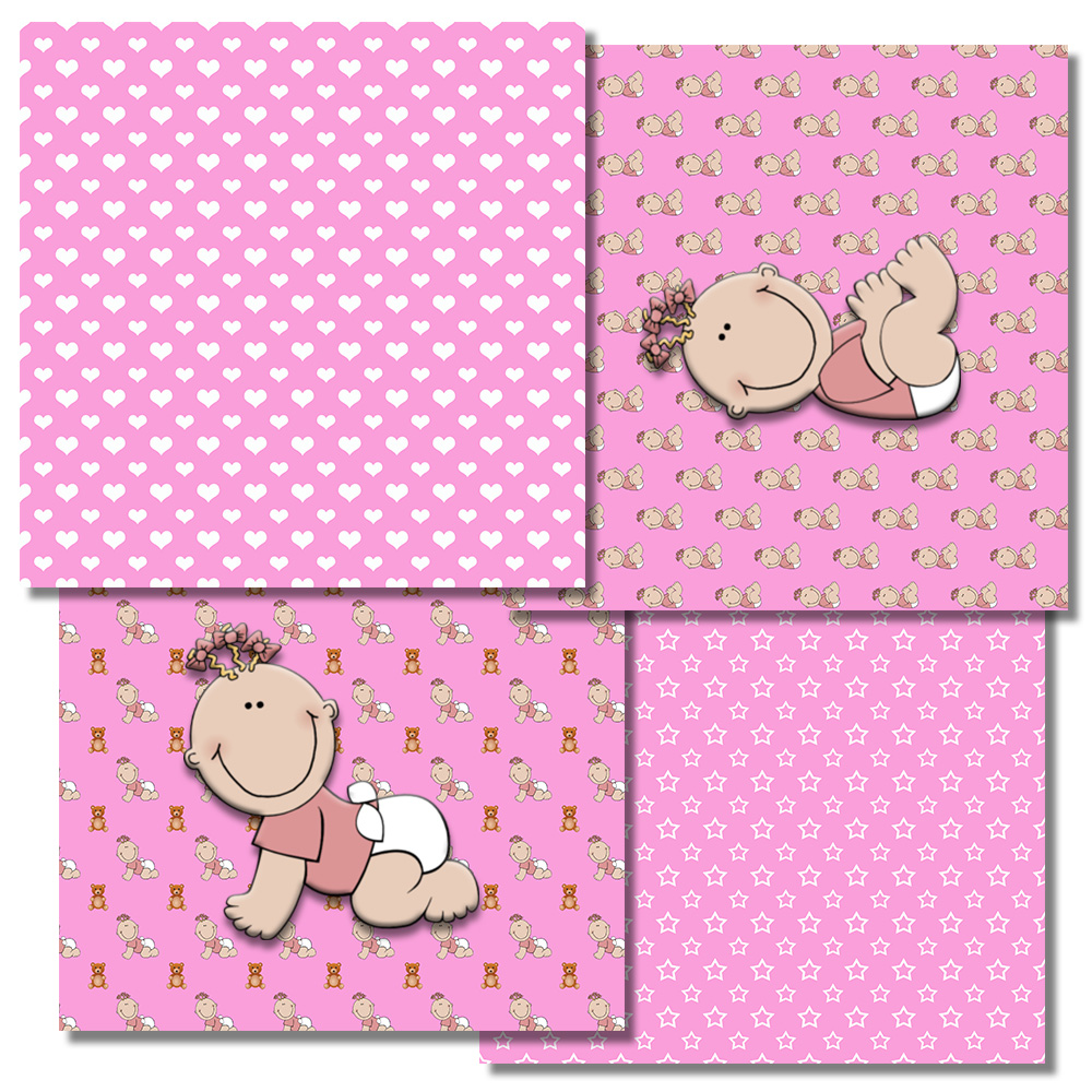 Baby Girl Pattern, Baby Shower, Pink Girl, Pink,BLACK FRIDAY example image 2
