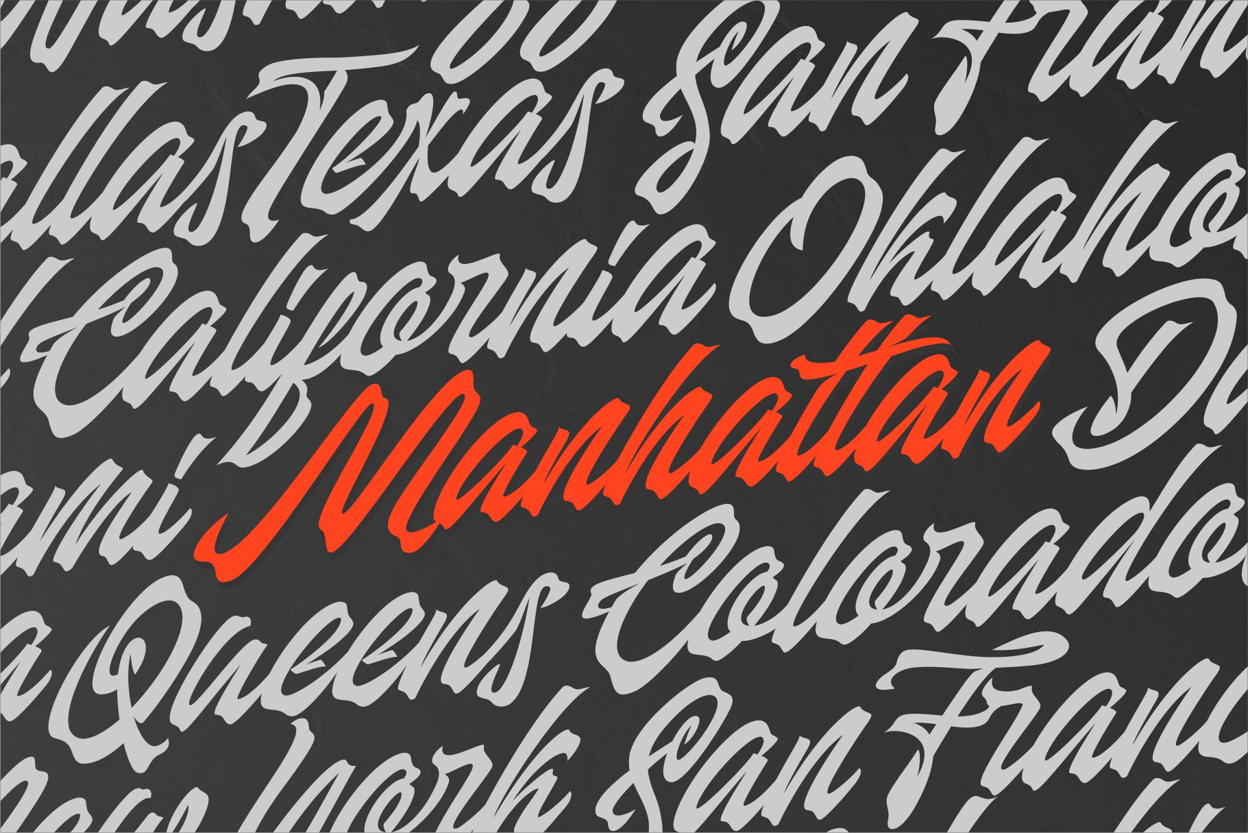 Manhattan Brush - Ink Script Font example image 2