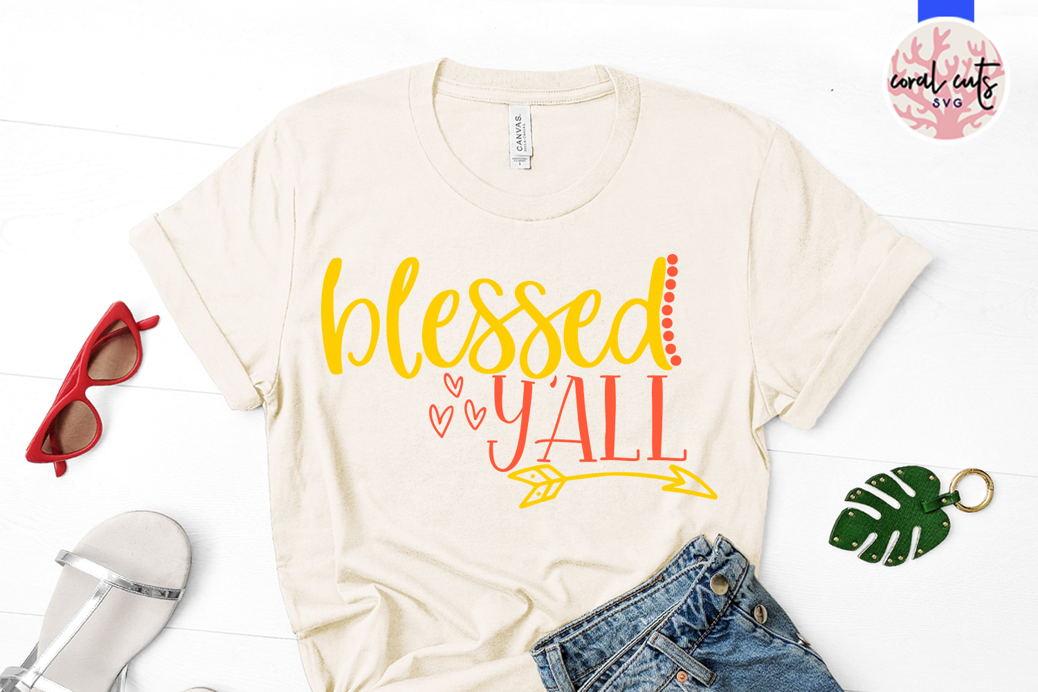 Blessed y'all - Easter SVG EPS DXF PNG Cutting File example image 2