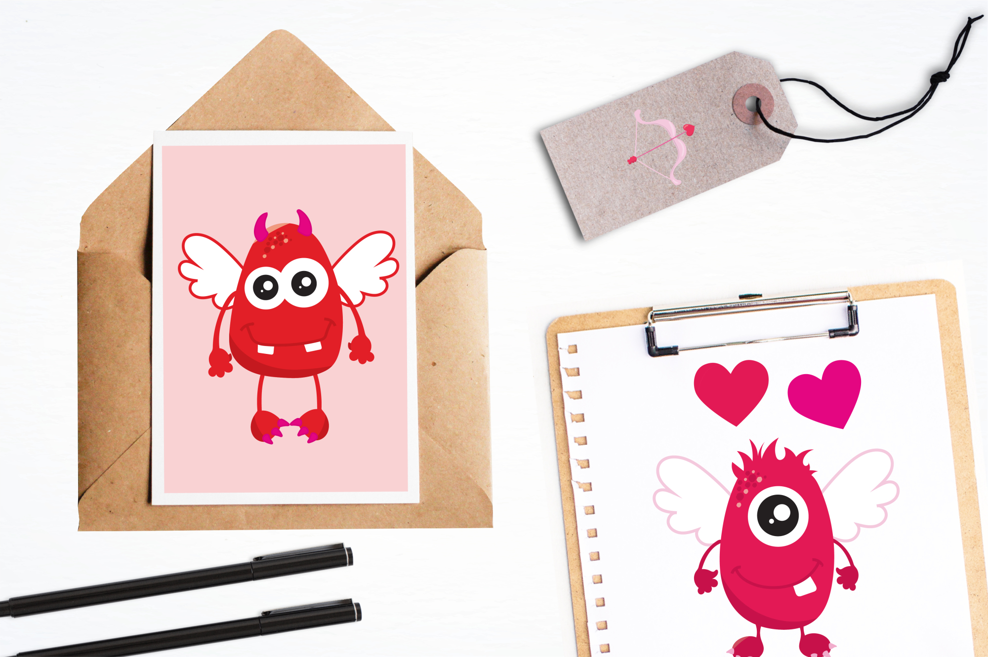 Valentine Monsters graphics and illustrations example image 4