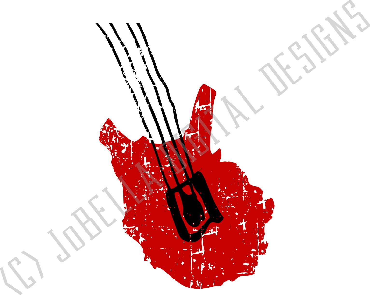 Electric Bass SVG, Sublimation and Printable Design example image 3