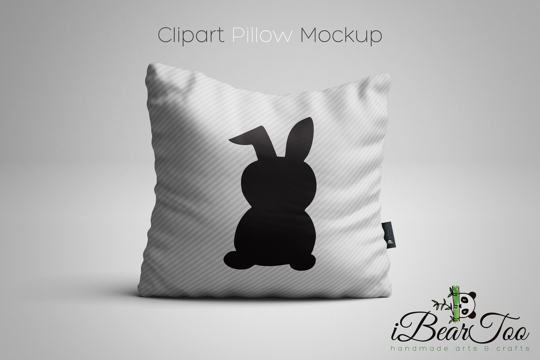 Rabbit SVG Black Clipart Bunny Drawing Vector Cut Files example image 6
