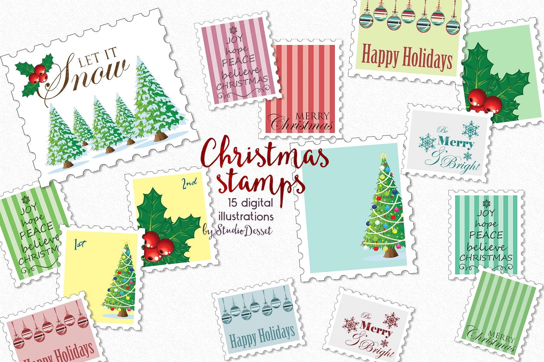 Christmas Bundle of Illustrations example image 12