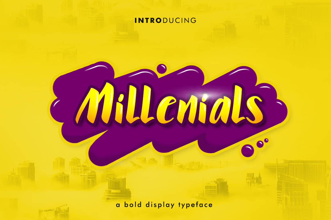 Millenials Font 30% off example image 1
