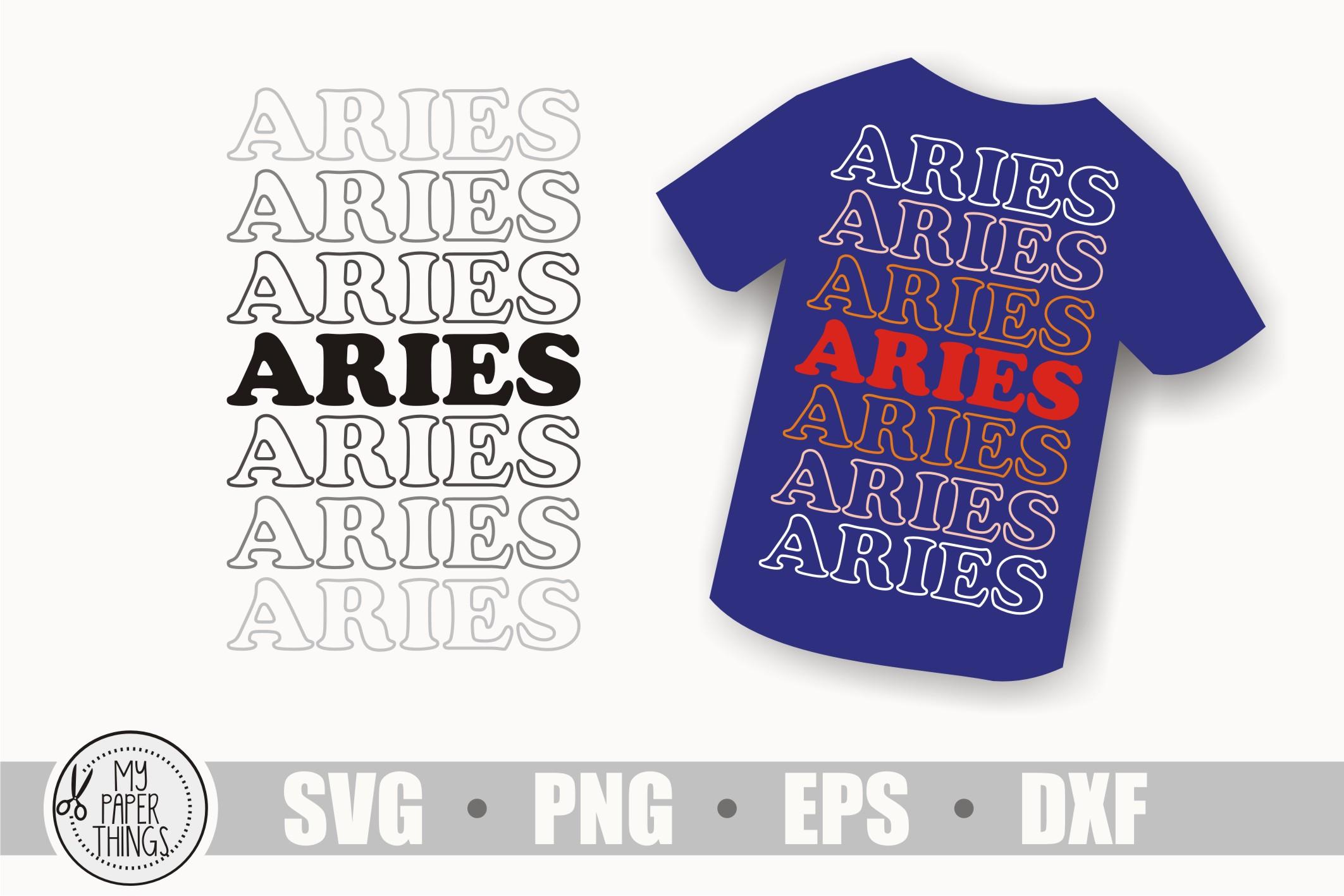Aries svg bundle, Birthday svg, Zodiac sign example image 10