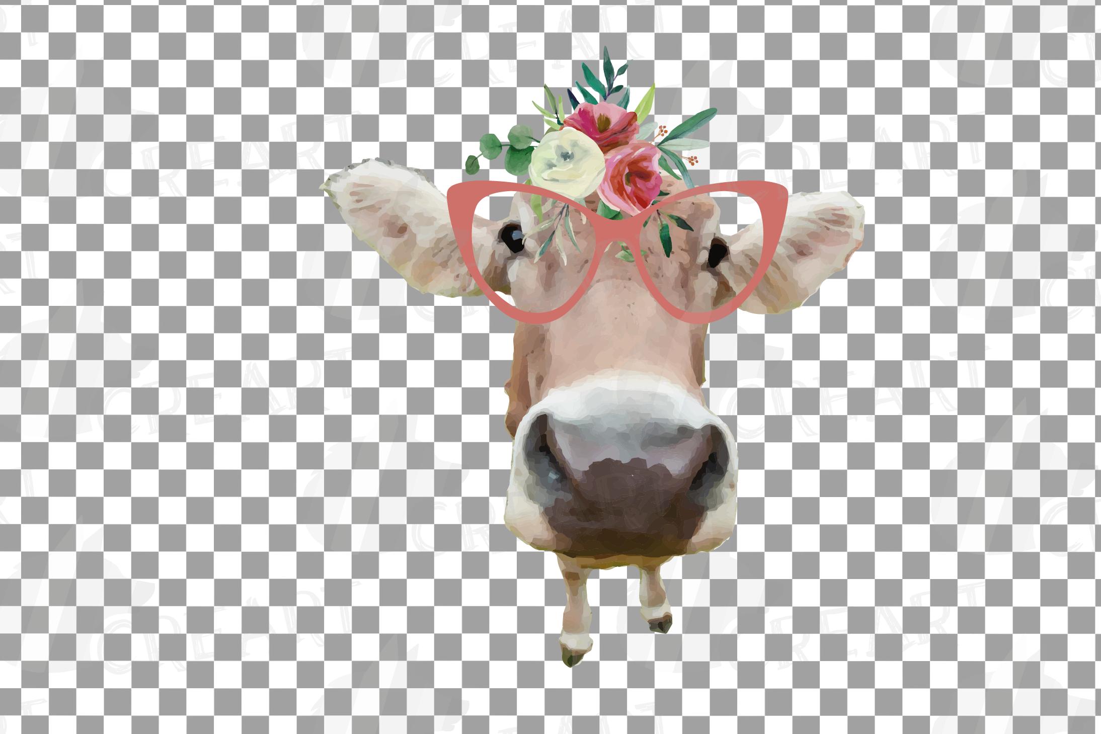 Not today Heifer printable shirt, mug, card floral cow png example image 21